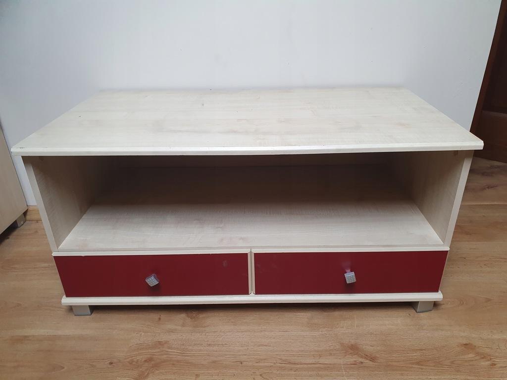 szafka pod telewizor bordowa młodzieżowa