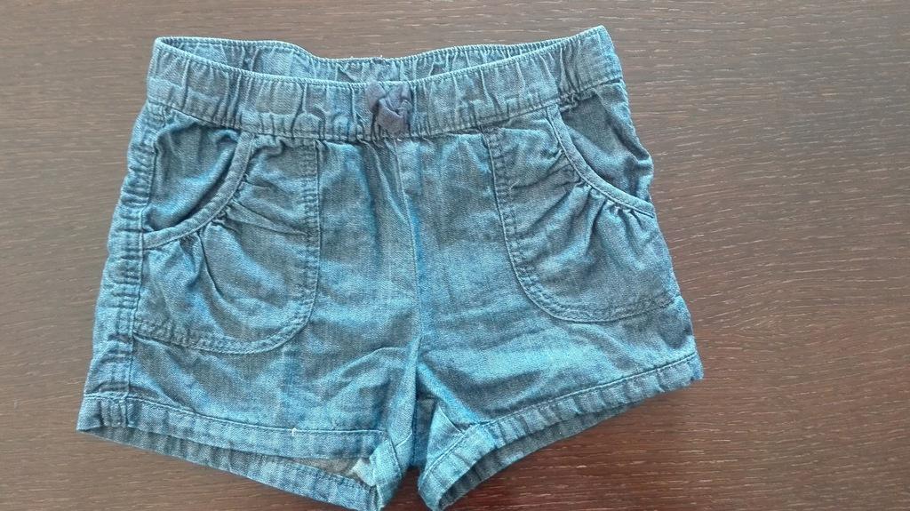 Spodenki krótkie jeansowe C&A, rozmiar 122 cm
