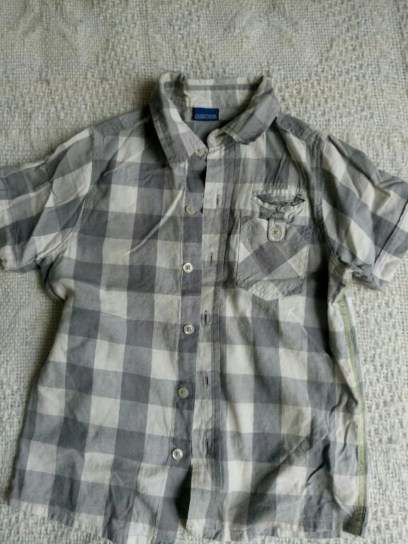 Cherokee koszula kratka szara 122