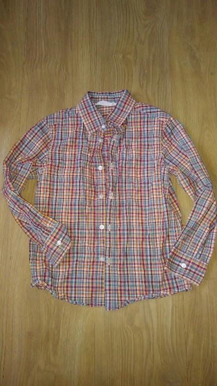 h&m kolorowa koszula w krate 122