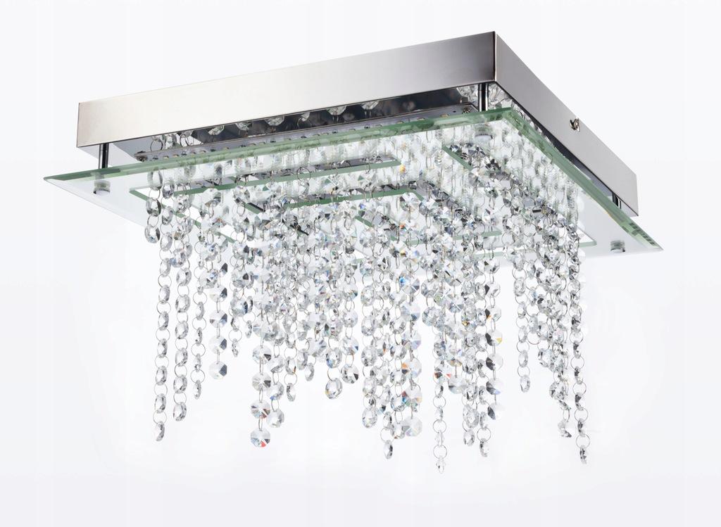Glamour kryształ plafon biuro mieszkanie LED 4000K