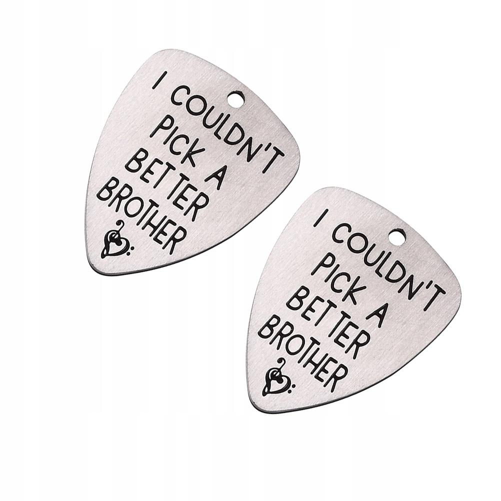 2 sztuk Gitara Pick Gitara Titanium Stalowa Plectr
