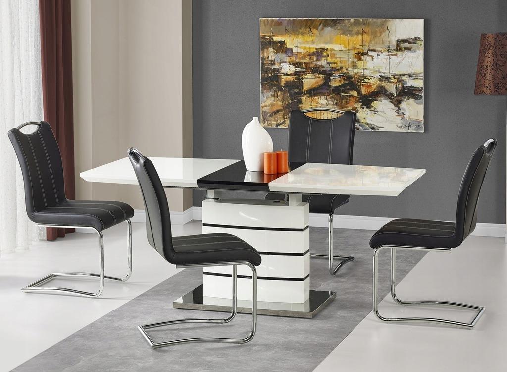 Stół Rozkładany NORD Biały Połysk Glamour Halmar