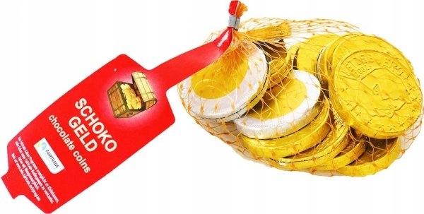 BOHME czekoladowe MONETY pieniądze EURO 100g DE