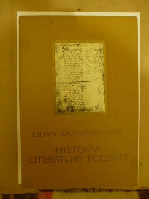 Julian Krzyżanowski Historia literatury polskiej