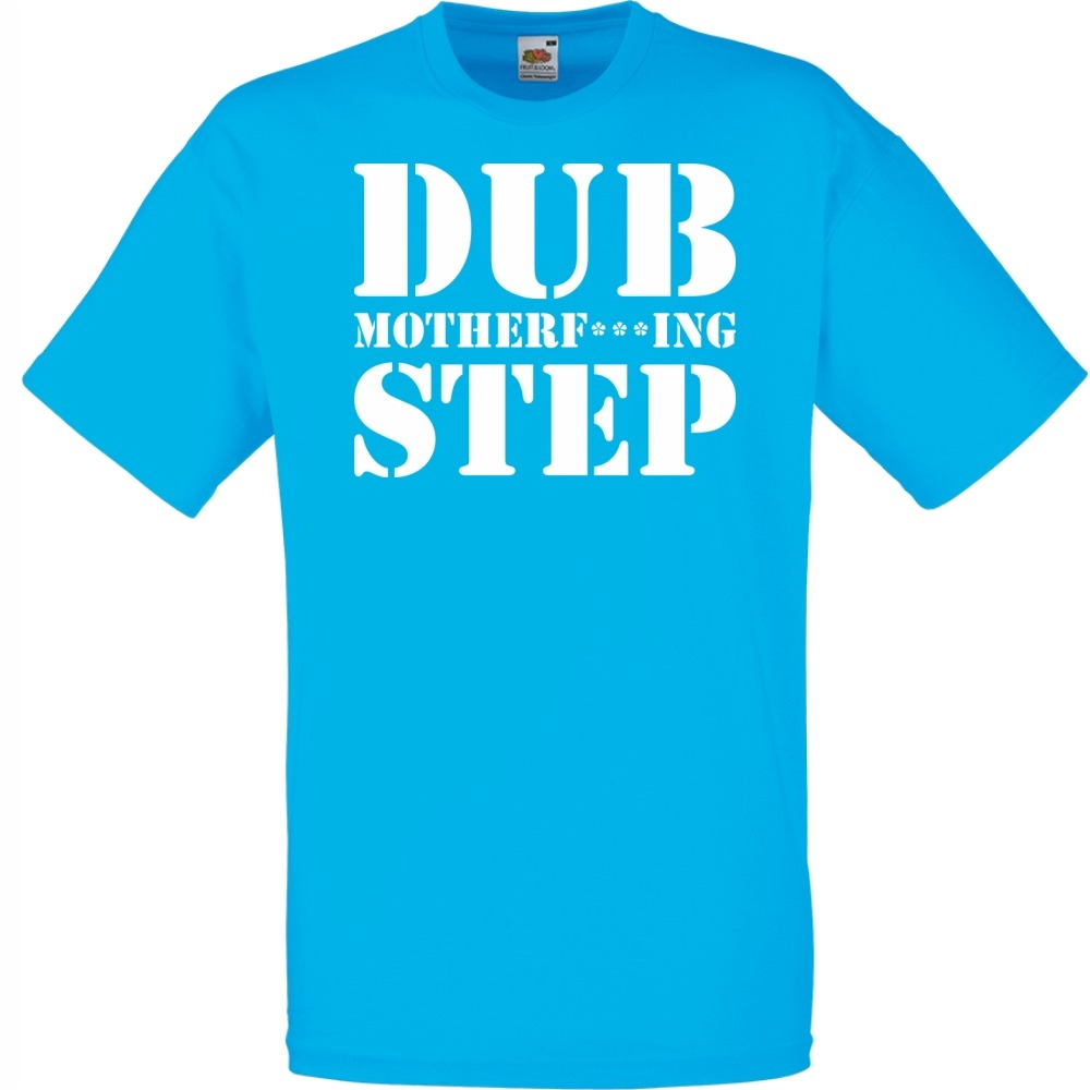 Koszulka z nadrukiem dubstep dub XL lazurowa