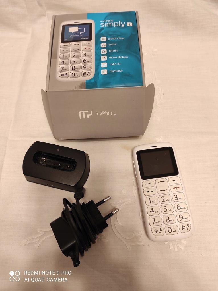 TELEFON MYPHONE SIMPLY 2 + ŁADOWARKA