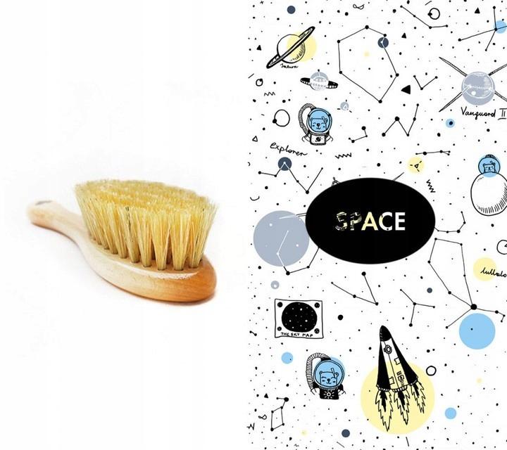 Szczotka z włosia na ciemieniuchę +myjka Lullalove