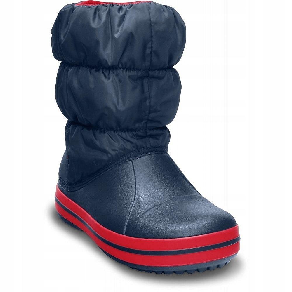 dziecięce buty Crocs Winter Puff Boot - Navy/Red