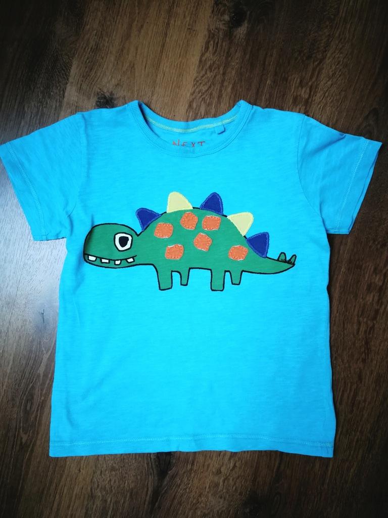 NEXT super t-shirt z dinozaurem 110