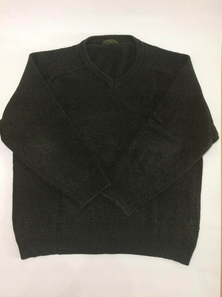Szary sweter Attraction kaszmir 2XL
