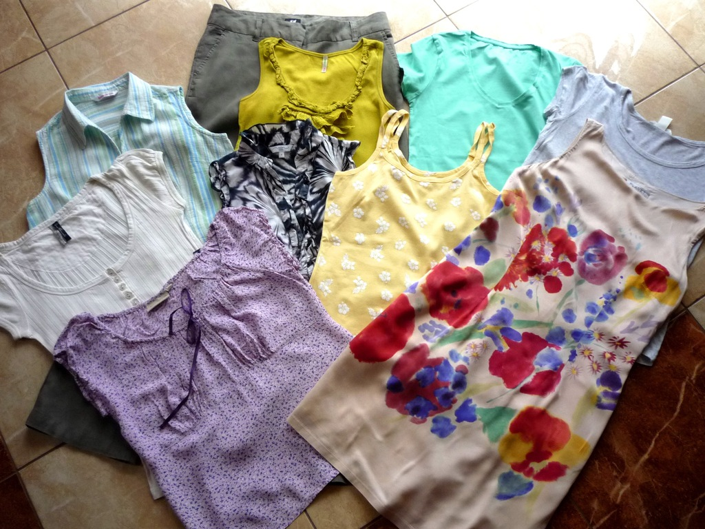 Spodnie sukienka bluzki zestaw H&M NEW LOOK 38