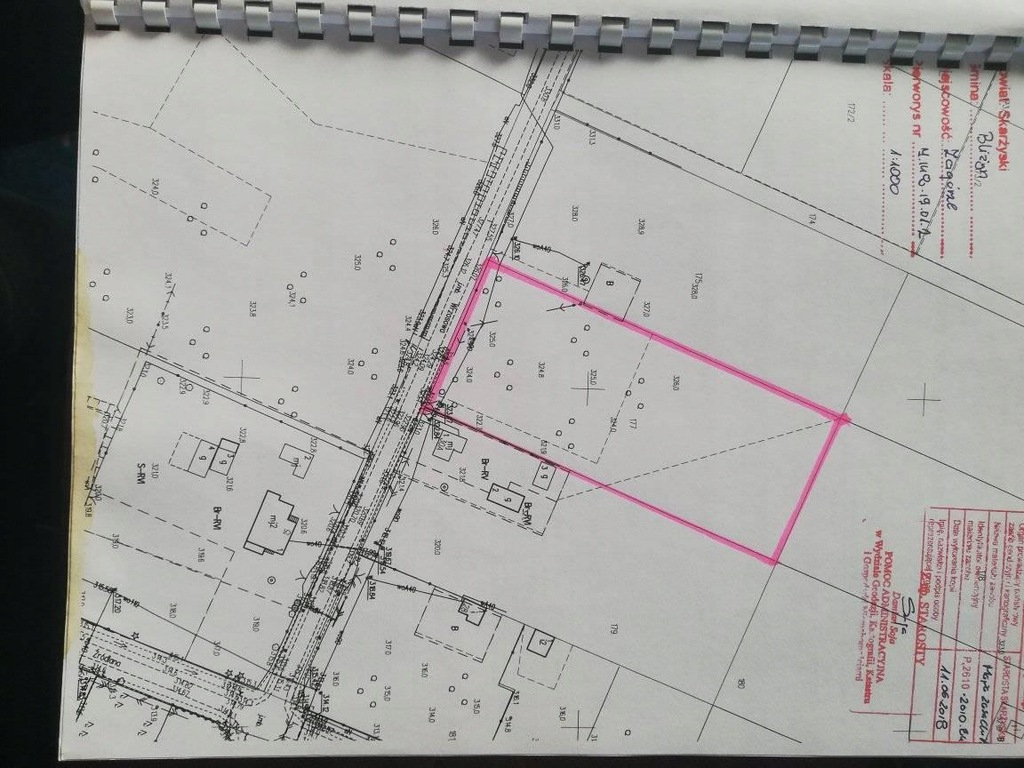 Działka budowlana MN/ML 5400m2 Zagórze gm. Bliżyn