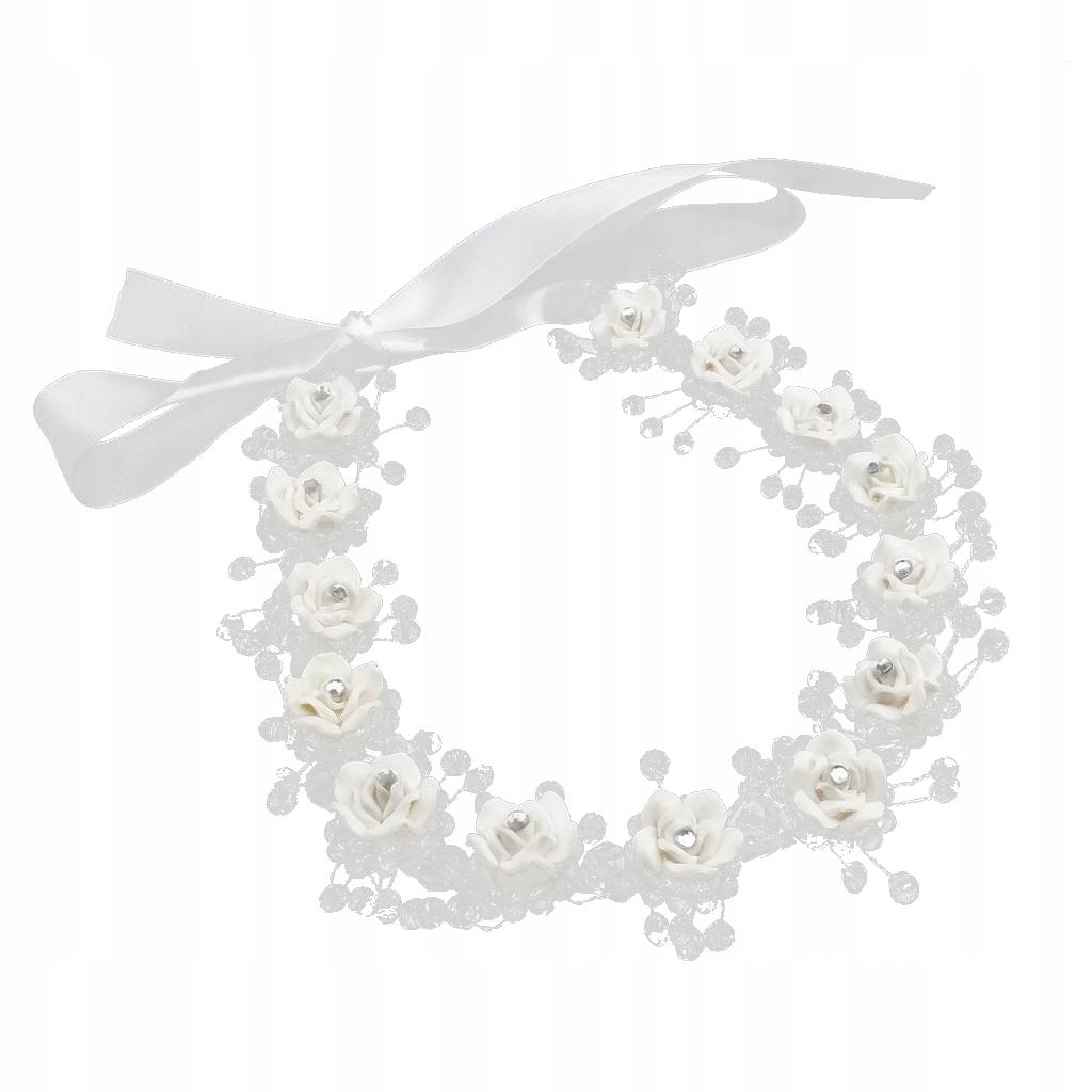 Opaska na wesele Biały