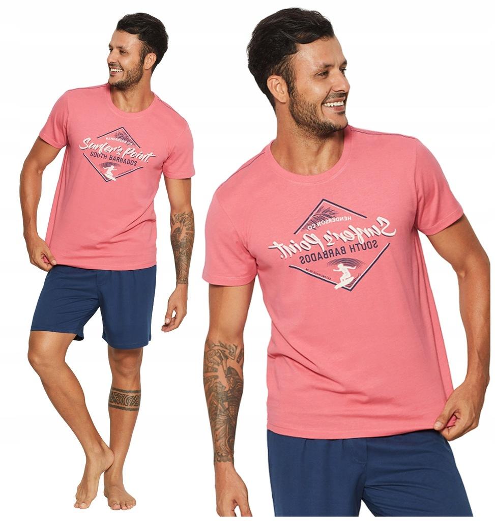 piżama męska HENDERSON 37849 RAISE W2 krótka - XXL