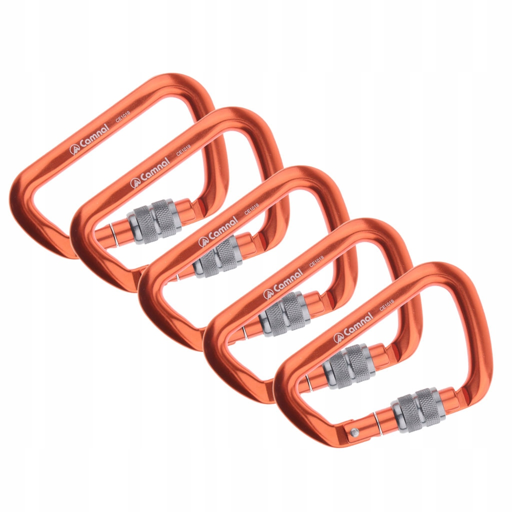 5 sztuk wspinaczka karabinek - Pomarańczowy