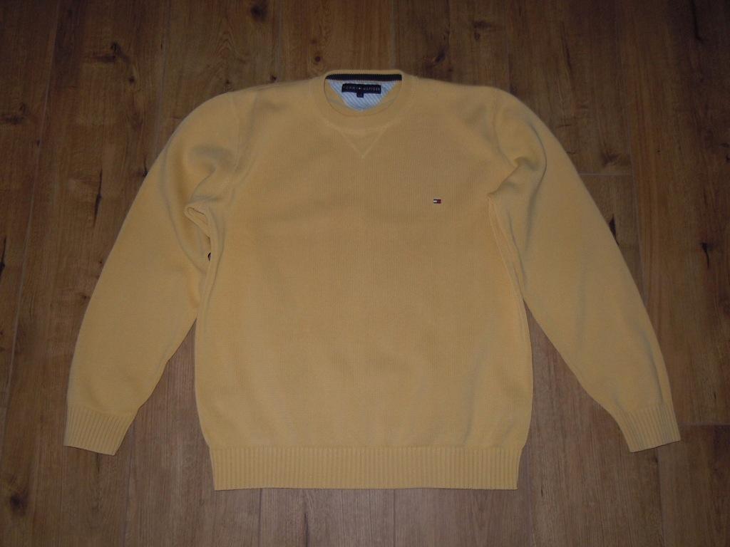 TOMMY HILFIGER sweter r .L BDB żółty