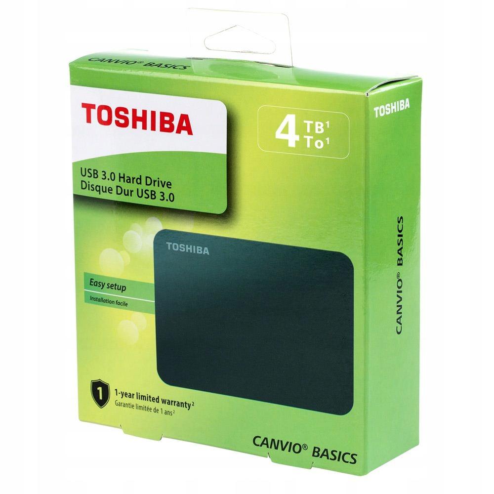 DYSK ZEWNĘTRZNY TOSHIBA CANVIO BASICS 4TB USB 3.0