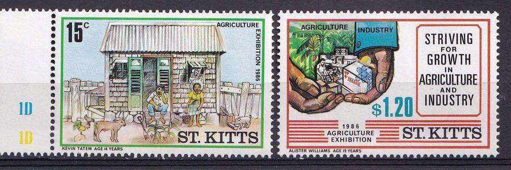 ST.KITTS** Mi 178-9 Wystawa Rolnicza
