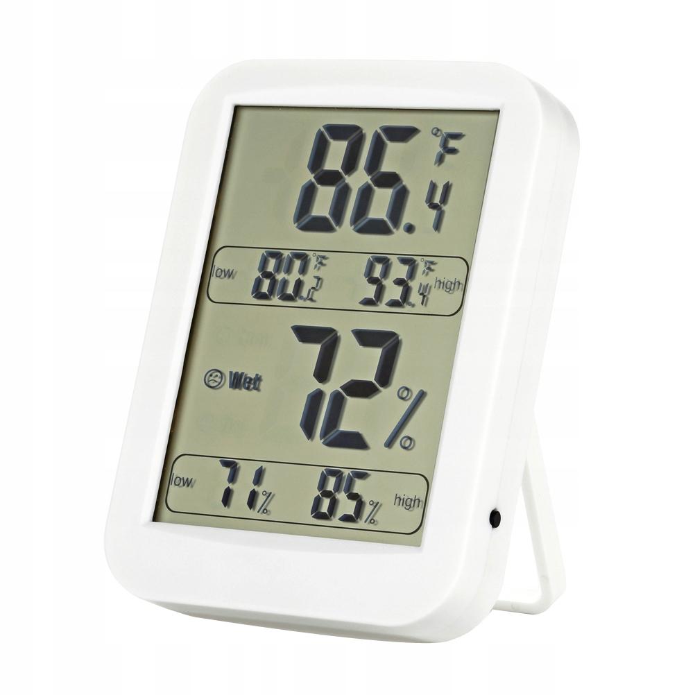 Duży cyfrowy higrometr LCD termometr wewnętrzny Mo