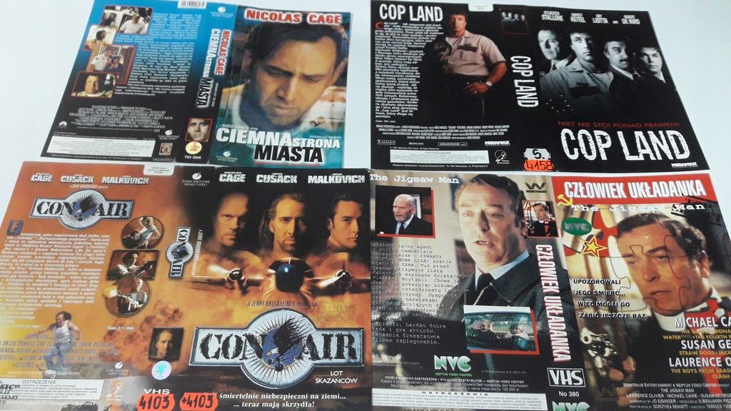 A-0931 pakiet 8 okładek kaset vhs