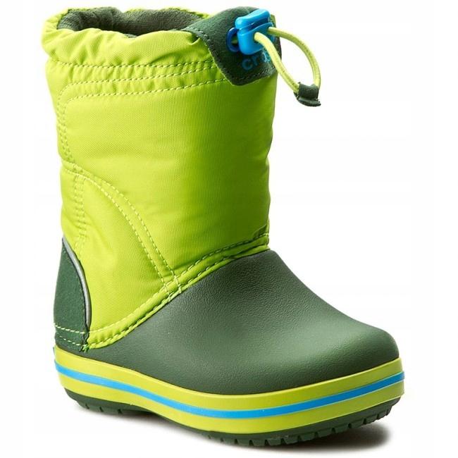 Crocs Buty zimowe Crocband LodgePoint zielone 27.5