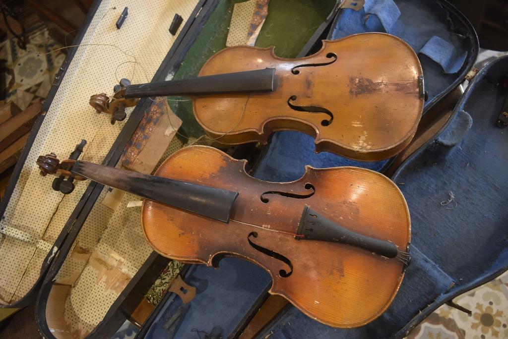 Przedwojenne skrzypce (2 szt)