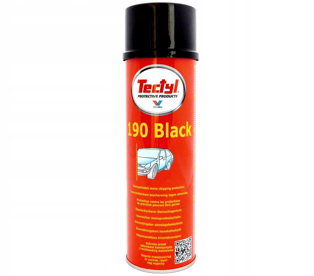 VALVOLINE TECTYL 190 BLACK 500 ML PCV SPRAY CZARNY