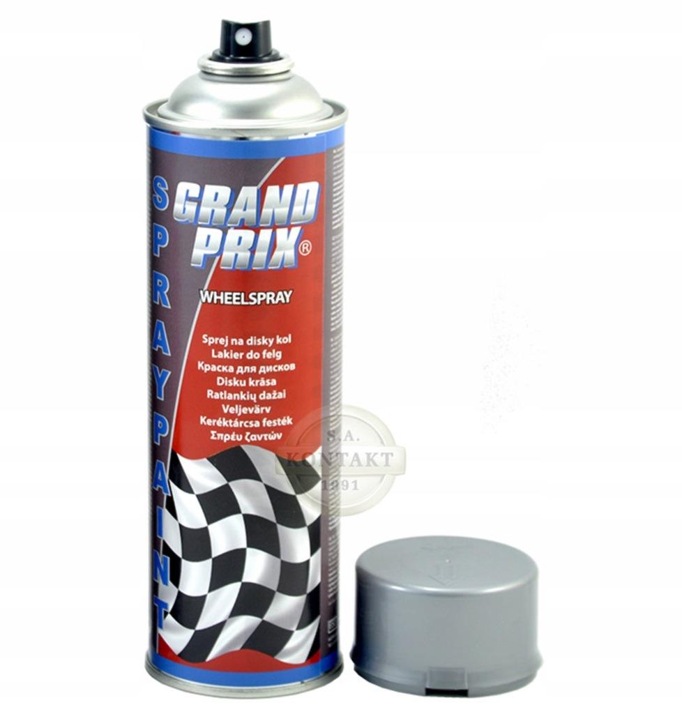 Lakier samochodowy GRAND PRIX 500ml srebrny