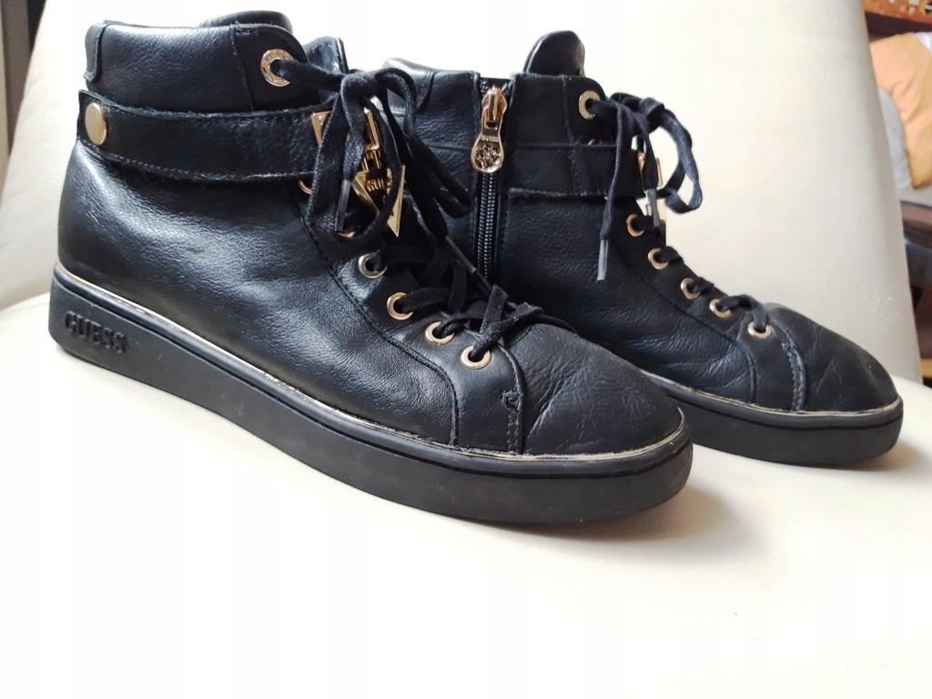 Sneakersy GUESS FLBOG4 LEA12 BLACK r. 40 8282803276