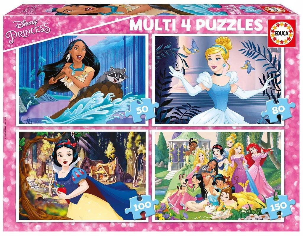 Educa BorrsPrincesses Disney Princess 4in 1Multi 1