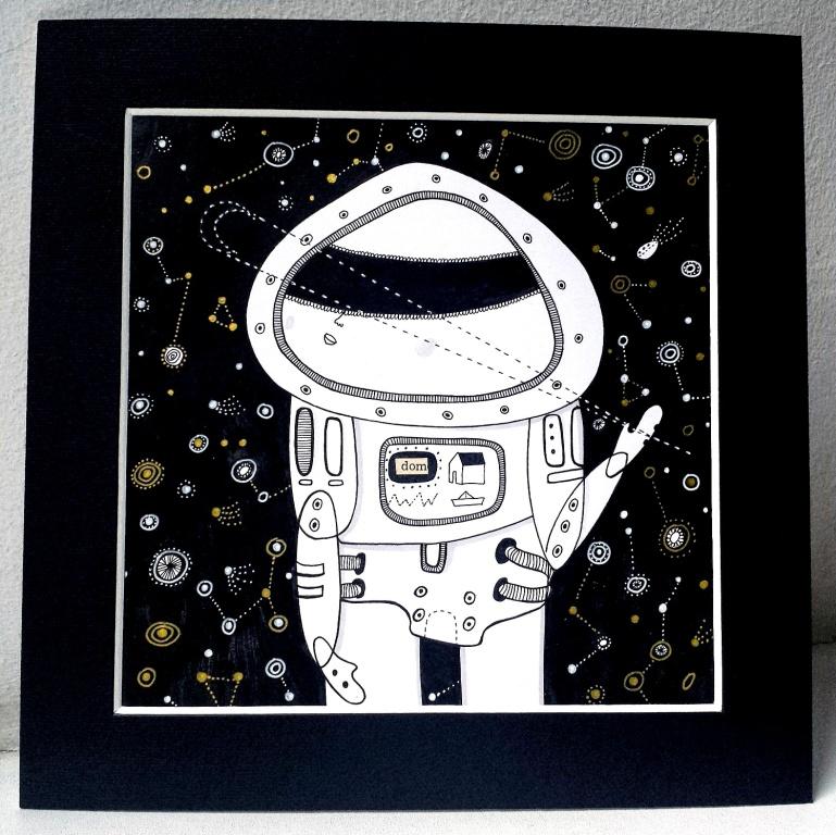 Ilustracja z kosmonautą