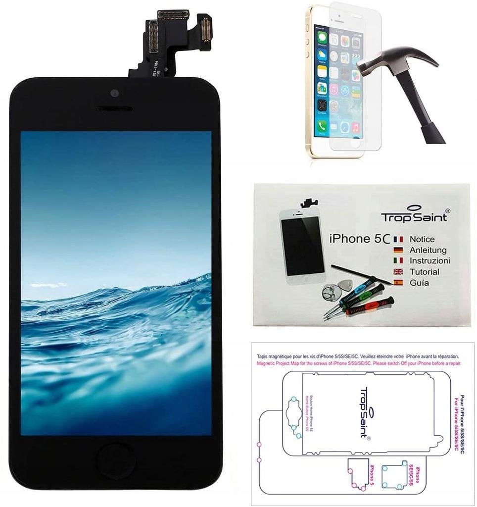 Zestaw do ekranu Trop Saint Black do iPhone 5C
