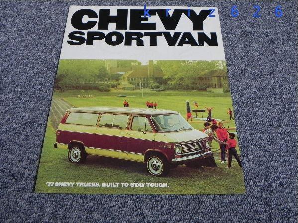 Chevrolet Chevy Sportvan G10 G20 G30 - 1977 - USA