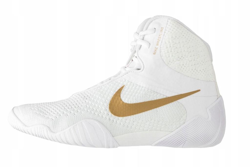 Buty zapaśnicze, bokserskie NIKE TAWA - Białe
