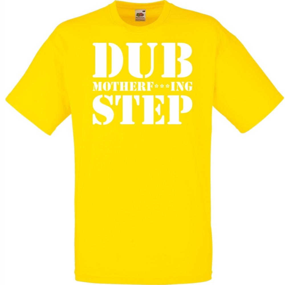 Koszulka z nadrukiem dubstep dub S żółta jaskrawa