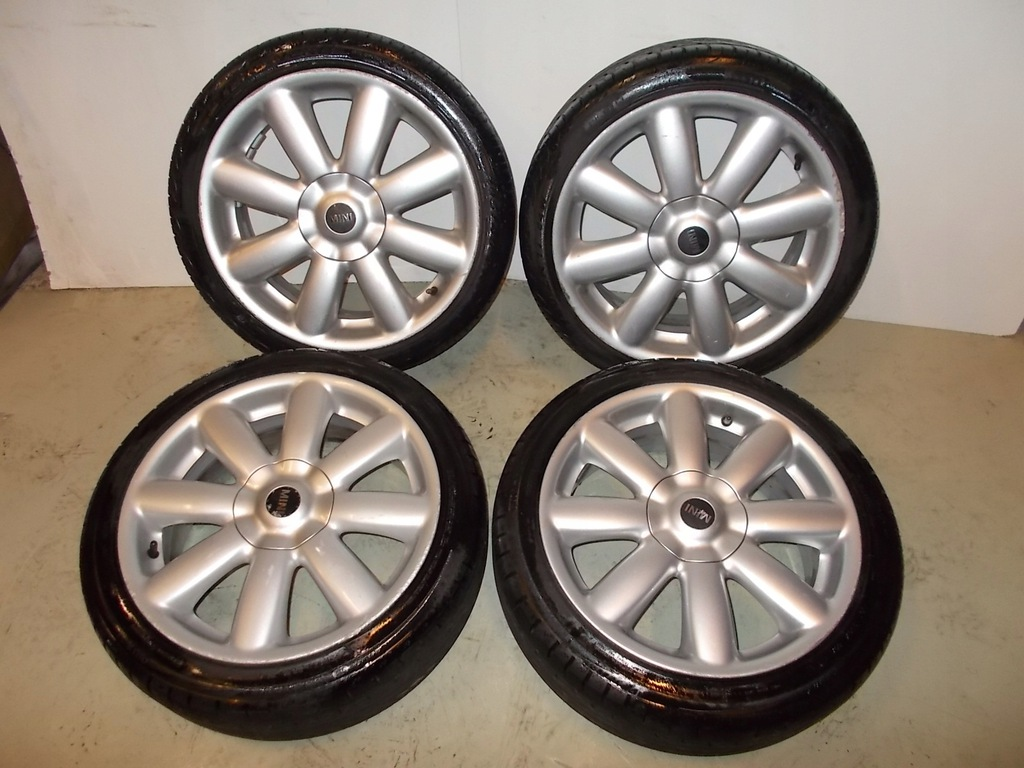 "* BMW Mini Cooper 4 R50 R55 R56 Nero ruota in lega Rim 17/"" 7J ET:48 FLAME SPOKE 97"