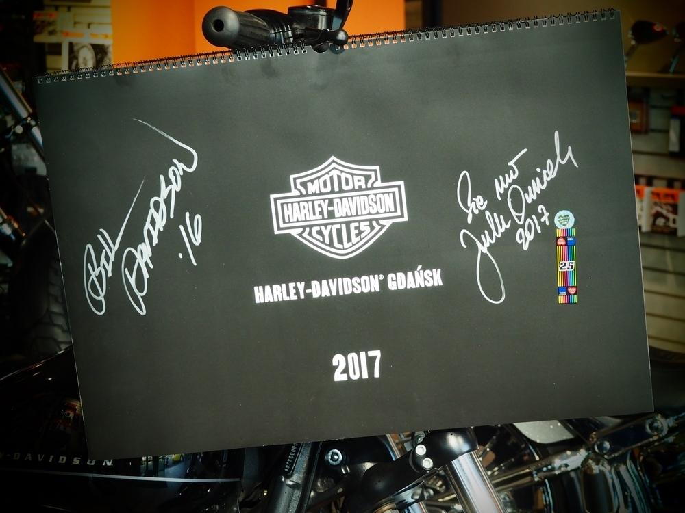 Harley-Davidson Kalendarz 2017 z autografami