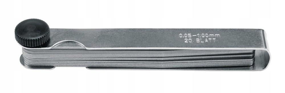 SZCZELINOMIERZ 20 listków 0,05-1mm
