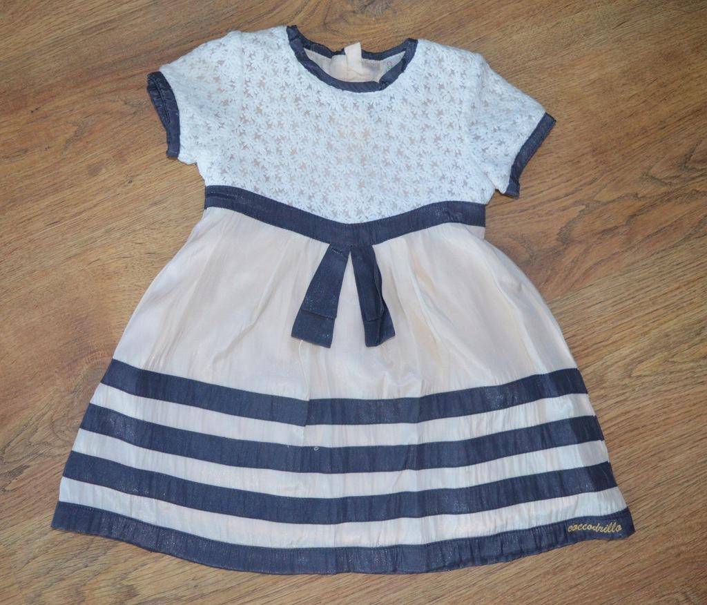 Śliczna urocza sukienka COCCODRILLO 80-86 j. nowa