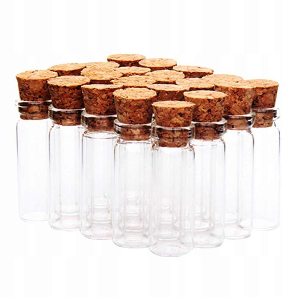 24 sztuk Korek Szklane Butelki Przezroczyste Słoik