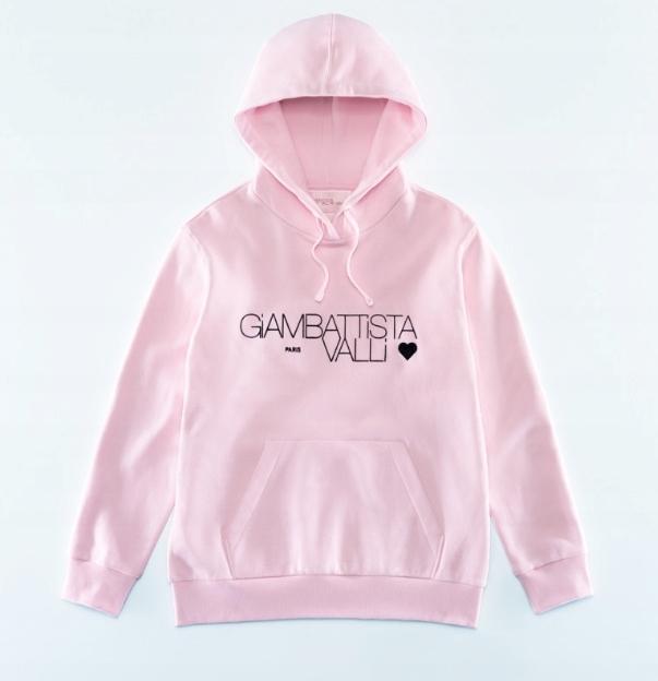 Giambattista Valli H&M różowa bluza kaptur 36