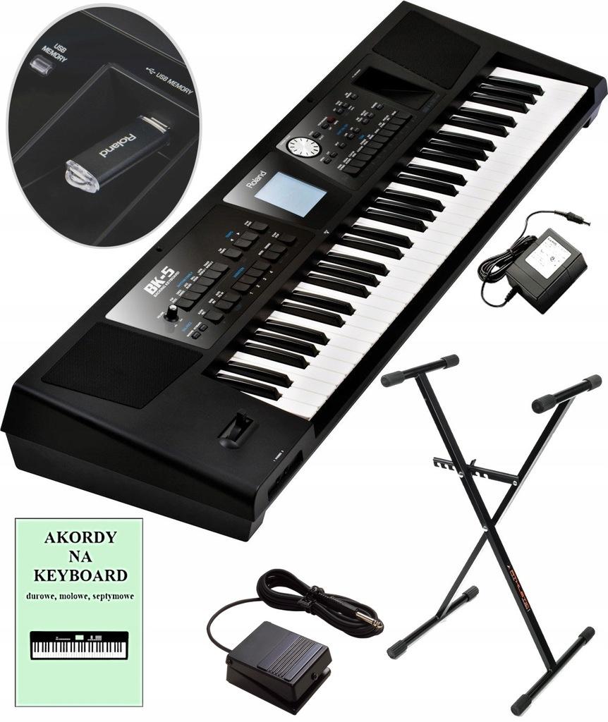 ROLAND BK-5 Keyboard +Podręcznik +Pedał +Statyw