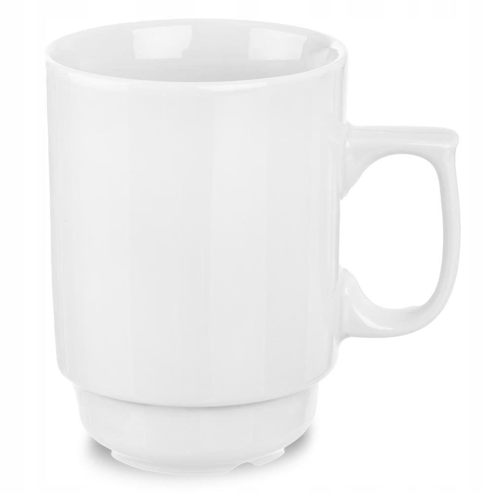 Kubek porcelanowy BIAŁY z uchem 240 ml do kawy her
