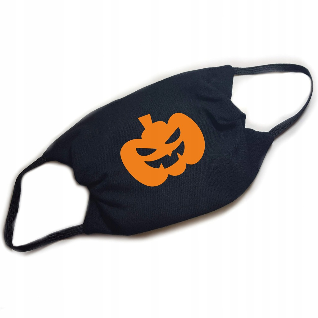 Maseczka maska dla DZIECKA HALLOWEEN dynia FILTR