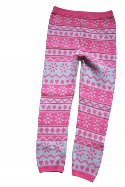 George 7-8lat ciepłe legginsy 122-128