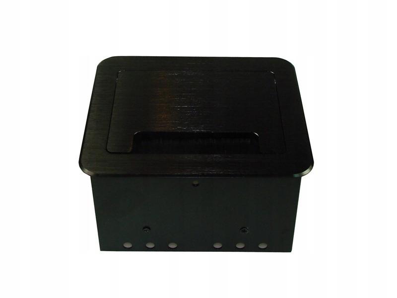 Power Port biurkowy CUBA 1xAC 1xRJ45 1xUSB Czarny