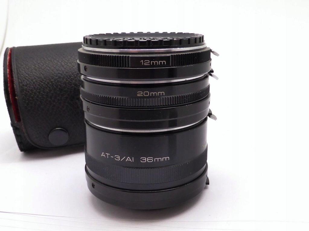 Vivitar 3 pierścienie makro do Nikon AT-3/AI.