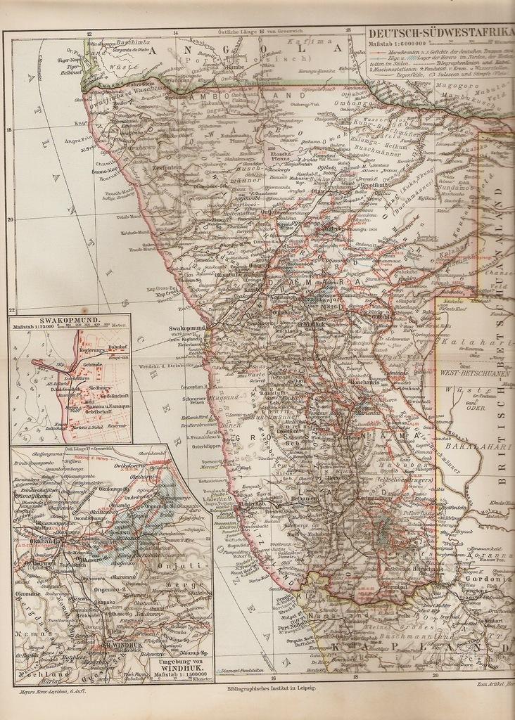 NAMIBIA 1907 ROK