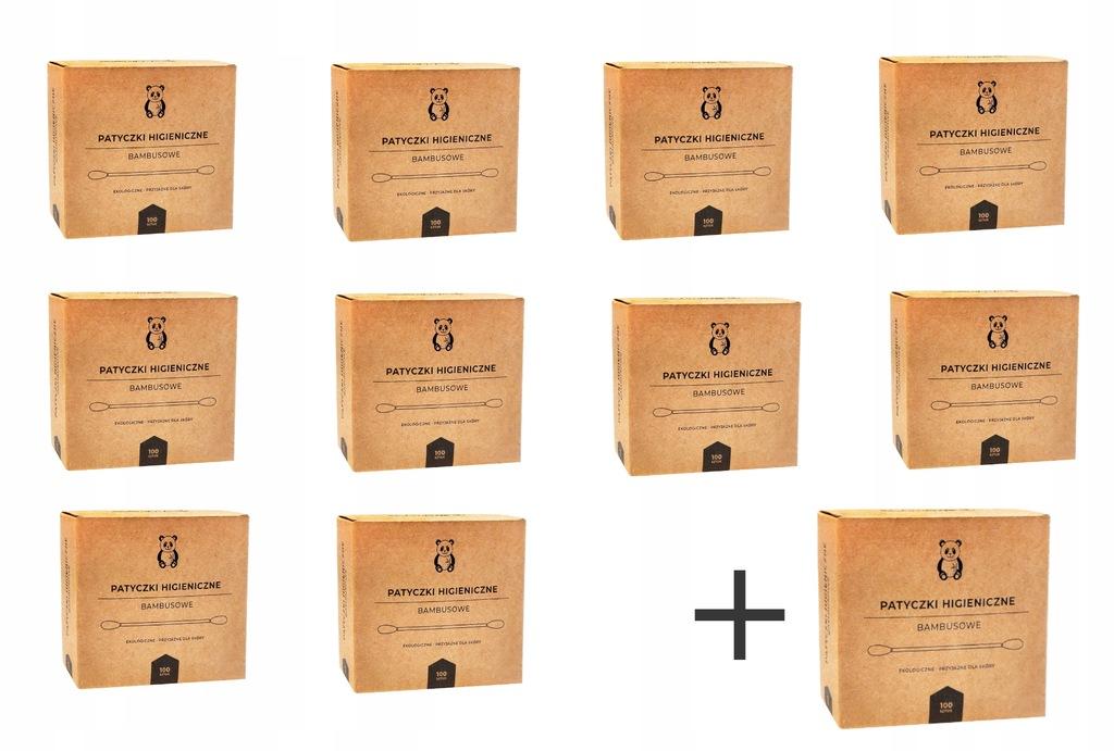 Patyczki Higieniczne Bambusowe Eko x1100 ZeroWaste